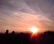 夕日…盛岡 7月<br />  2日18時46<br />  分