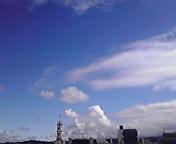 久し振りの青空…盛岡午前8時2<br />  7分