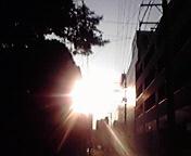 強い日射し…盛岡8<br />  月7日17<br />  時35分