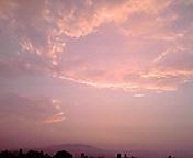 朝の空…盛岡午前5時50<br />  分