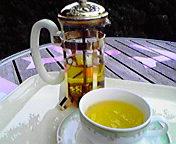 午後のお茶(<br />  カモミールティー) <br />  … 10月31<br />  日14時48<br />  分