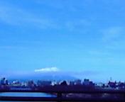 岩手山白く…盛岡南大橋から午前11<br />  時49分