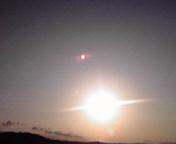 太陽…盛岡午前7時01<br />  分