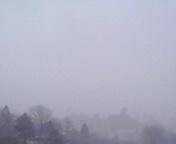 雪降る空…盛岡1<br />  5時52分