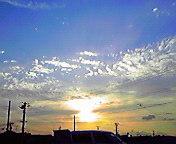 夕日…盛岡南大橋付近8<br />  月15日17<br />  時45分