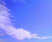 空と雲…盛岡午前10時04<br />  分