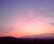 朝焼け…盛岡11月<br />  26日午前6時24<br />  分
