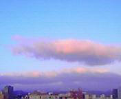 朝の雲…盛岡 12<br />  月8日午前6<br />  時59分