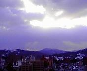 朝の光…盛岡 1月<br />  27日午前7<br />  時36分