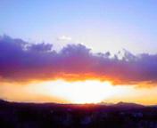 日の出直前…盛岡 <br />  1月29日午前6時5<br />  8分