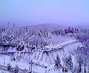 再び雪…盛岡 3月<br />  5日午前6時<br />  52分