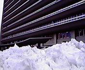雪の山…岩手県庁前 3<br />  月9日13<br />  時39分