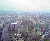 雨の仙台2…アエル3<br />  1階から 4<br />  月12日14<br />  時34分