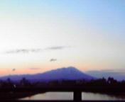 岩手山…南大橋から 5<br />  月8日18<br />  時34分