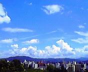 空と雲…盛岡 7月<br />  16日午後12<br />  時21分