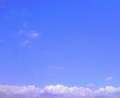 青い空…盛岡 7月<br />  21日午後12<br />  時23分