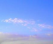 淡紅色の雲…盛岡 <br />  9月14日17<br />  時24分