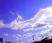 流れる雲…盛岡 <br />  10月11日13<br />  時57分
