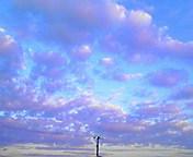 流れる雲…紫波 <br />  11月20日15<br />  時55分