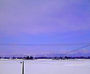 空と雪…紫波 1月<br />  3日午後12<br />  時23分