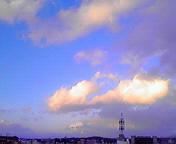 空と雲…盛岡 1月<br />  19日16時19<br />  分