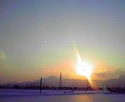 夕日…矢巾付近 2<br />  月5日16<br />  時11分