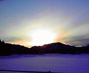 夕日…紫波 2月<br />  13日16時44<br />  分