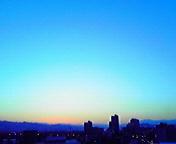 夕景…盛岡 2月<br />  21日17時22<br />  分