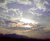 夕空…矢巾付近 7<br />  月9日17<br />  時28分