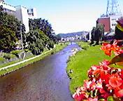 中津川…盛岡中の橋から 7<br />  月11日午前<br />  10時15分