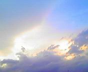 光る空…盛岡 8月<br />  10日18時45<br />  分