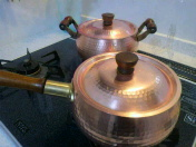 銅鍋磨き…蘇る光