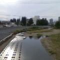 下の橋からの中津川 … 15時48分