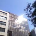 ビルに陽光…盛岡菜園10時15分