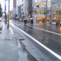 師走の雨 … 盛岡菜園 14時58分
